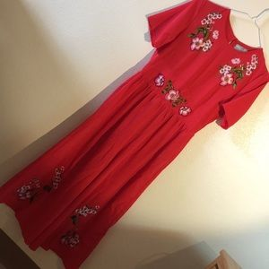 616a605f54a08 ASOS Embroidered Tea Jumpsuit- Petite NWT